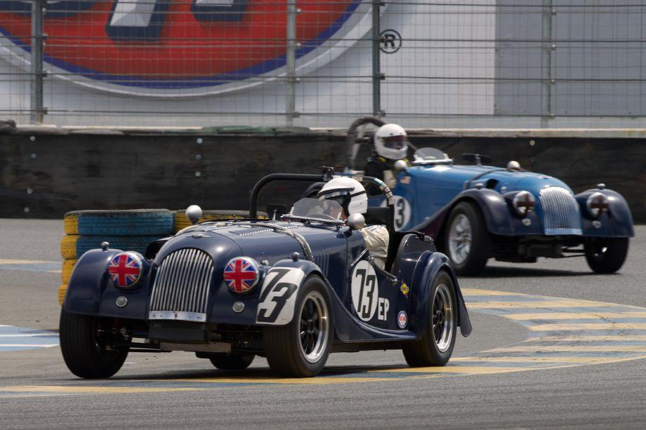 1959 Morgan +4 driven by Lou Timolat in eleven.