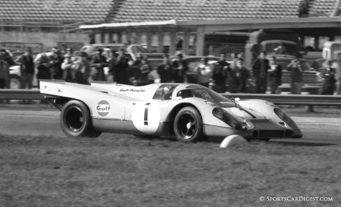 o Siffert and Brian Redman led in the early hours of the race but a series of mechanical problems kept them from the overall win but finishing second. (Lou Galanos photo)