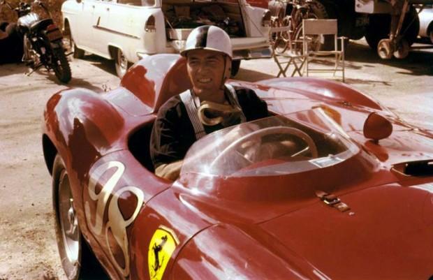 Carroll Shelby in the Edgar Ferrari 410S.