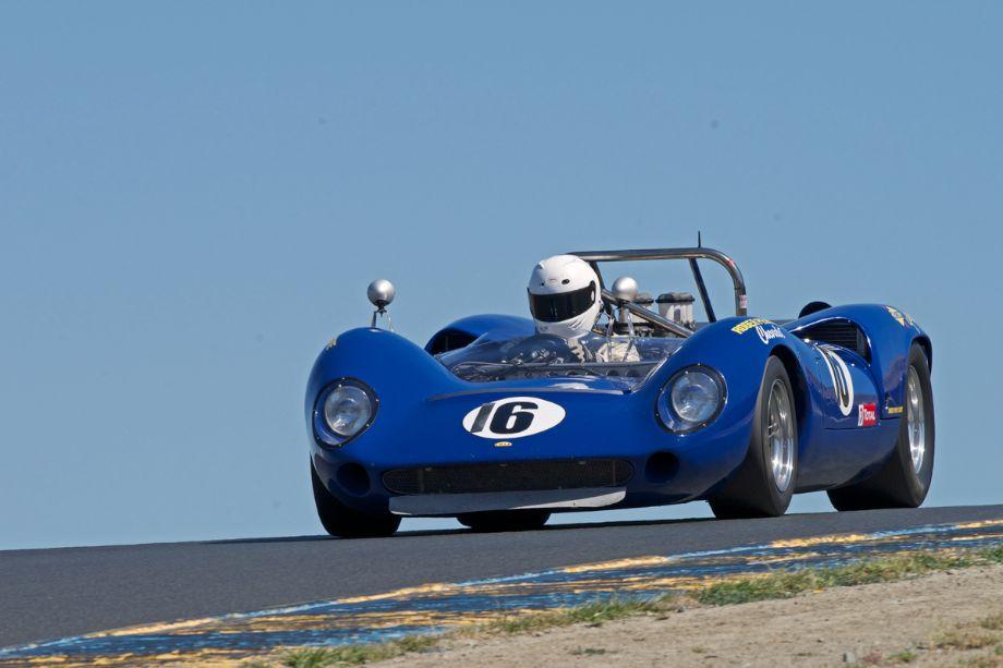 1966 Lola T70 MkII driven by Dan Cowdrey in three.