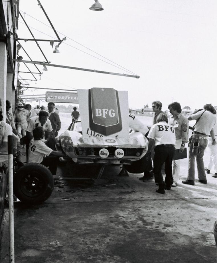 The Greenwood Corvettes ran on shaved-down B.F. Goodrich street radial tires.  (Lou Galanos photo)