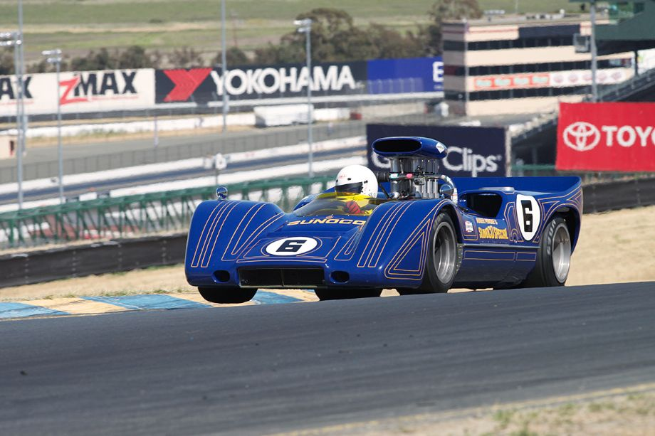 rian Blain in his McLaren M6B in three.