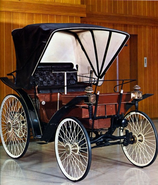 A Peugeot placed second at the first automobile competition in 1894. When the first-place de Dion was disqualified, Peugeot and Panhard were declared the winners.