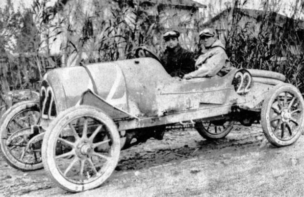 Enzo Ferrari, CMN race car, 1919 Targa Florio