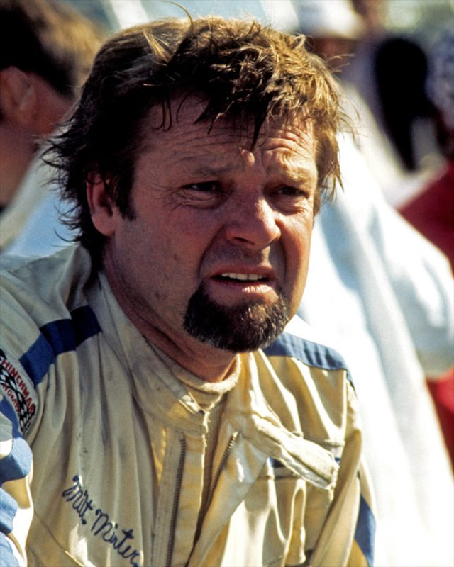 Milt Minter after driving Vasek Polak's Porsche 917/10 to 4th place at the Laguna Seca Can-Am race in 1972.
