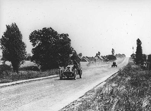 Renault driver Ferenc Szisz winner of the 1906 Grand Prix
