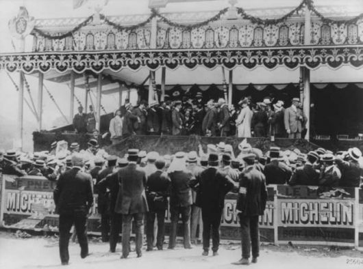 Victory ceremony 1906 French Grand Prix picture