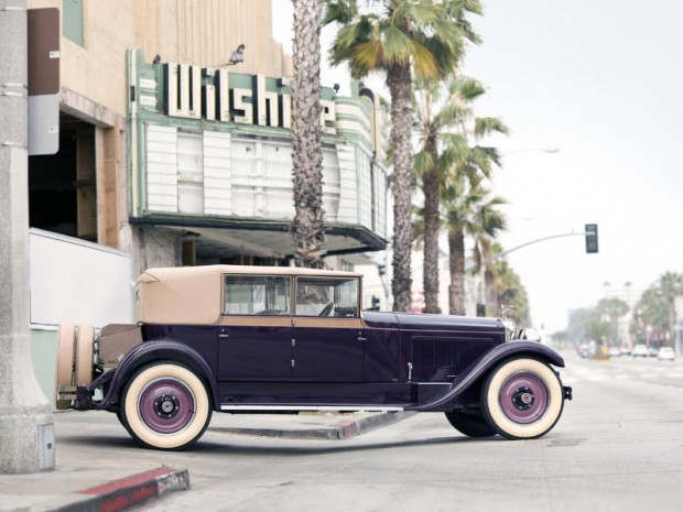 <strong>1927 Packard 343 Convertible Sedan – Estimate Unavailable.</strong> From the estate of racing legend Phil Hill; Best of Show at 1977 Pebble Beach Concours d'Elegance.