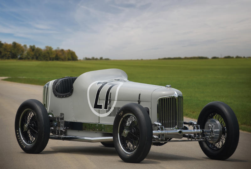 1931 Miller V16 Racing Car Car Profile