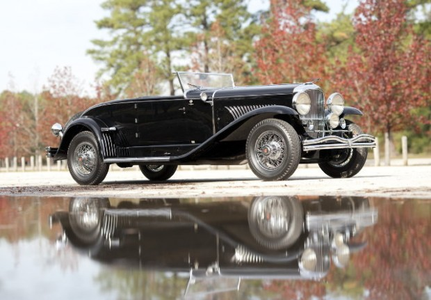 <strong>1934 Duesenberg Model J Disappearing Top Convertible Coupe, Chassis No. 2490, Engine No. J-461: </strong>The only Murphy-bodied Convertible Coupe in existence with rear-mounted spares, J-461 is renowned for its many concours awards including a Best in Class at the 1986 Pebble Beach Concours d'Elegance, a First Place at the 1987 Meadow Brook Concours d'Elegance and its coveted Category One standing with the ACD Club. First owned by Sigfried Roebling, of the famed Brooklyn Bridge family, this magnificent Duesenberg possesses an impressive lineage from new.