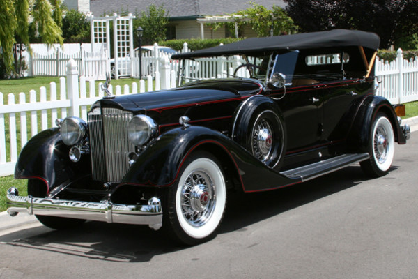 <strong>1934 Packard Twelve Model 1107 Five-Passenger Sport Phaeton – Estimate $350,000 - $450,000.</strong> Spent 40 years with one owner; shown in July 2009 at CCCA National meet where it received Premier badge for scoring 98 points or more.