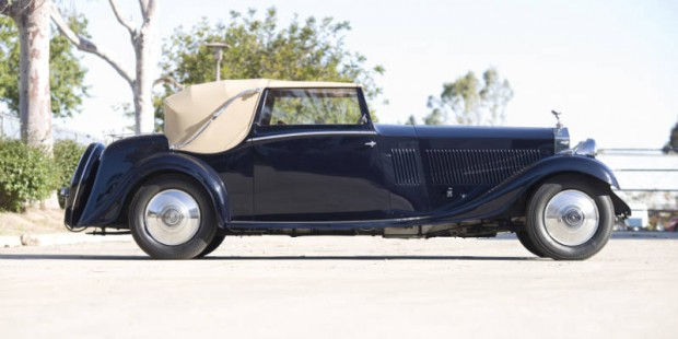<strong>1934 Rolls-Royce Phantom II Continental Drop Head Sedanca Coupe – Estimate $525,000 - $575,000. </strong>Mark Tuttle Collection for nearly 50 years; H.J. Mulliner coachwork.