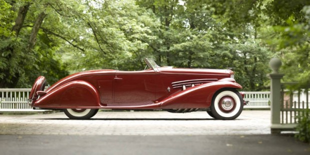 <strong>1935 Duesenberg SJ Roadster – Estimate Unavailable.</strong> – One-off body by Bohman & Schwartz; ex-Prince Serge M'Divani and Jerry Gebby.