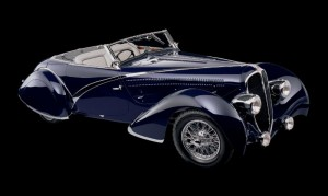 1936 Delahaye 135 Competition Disappearing Top Convertible by coachbuilder Figoni & Falaschi