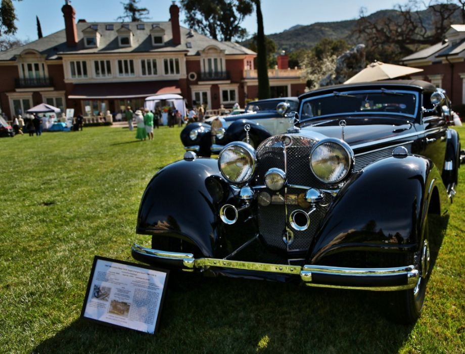 1937 Mercedes-Benz 540K Cabriolet A and 1939 Bugatti 57C Aravis