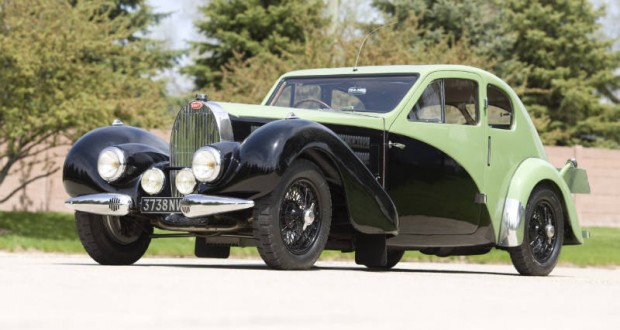 <strong>1938 Bugatti Type 57C Special Coupe - Estimate Unavailable.</strong> Formerly the property of Ettore Bugatti; one-off Jean Bugatti coachwork; cared for by the factory until its closing in 1959; offered without reserve.