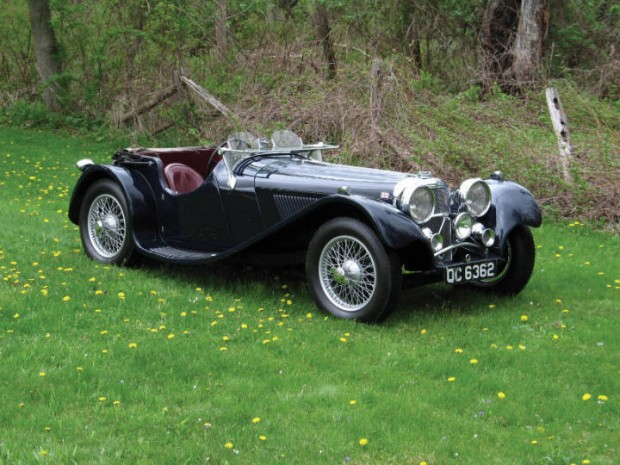 <strong>1938 Jaguar SS 100 3 ½ Liter Roadster – Estimate $250,000 - $350,000.</strong> Family car of American antiques experts and television personalities, Leigh and Leslie Keno.