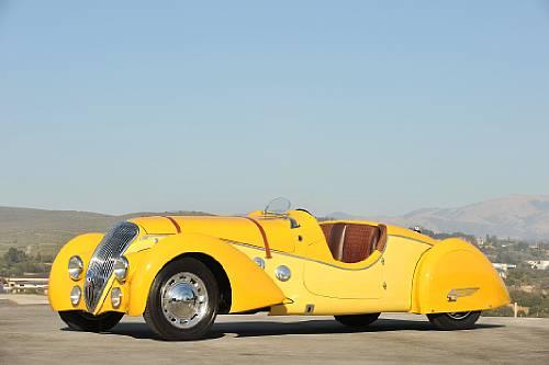 "<strong>1938 Peugeot 402 Darl'mat Legere ""Special Sport"" Roadster – Estimate $800,000 - $1,000,000.</strong>"
