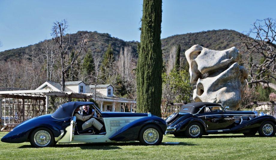 1939 Bugatti 57C Aravis and 1937 Mercedes-Benz 540K Cabriolet A