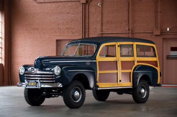 1946 Ford Super Deluxe Station Wagon – Estimate $200,000 - $250,000. Marmon-Herrington built; Dearborn Award winner, it was judged at 999 points at Abilene, Texas in 2005. The lost point was deducted for a misrouted fuel line. Further inspection showed the line to be properly routed.