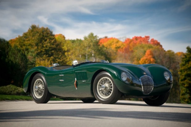 <strong>1952 Jaguar C-Type XKC-007 – Estimate Unavailable.</strong>Driven to victory in 1952 by Phil Hill to claim the Jaguar C-Type's first North American racing victory.