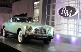 1953 Chrysler Thomas Special Coupe on auction block at Meadow Brook