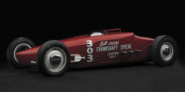 <strong>1953 Bell Engine 'Crankshaft' Special – Estimate $200,000 - $250,000.</strong> Fully documented, class-winning, 133.33 MPH historic drag racer; eligible for 2010 Pebble Beach Concours Legends of the Lakes Class.