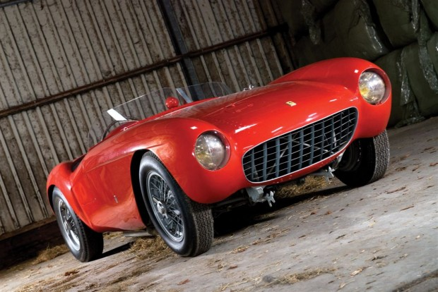 <strong>1954 Ferrari 500 Mondial Series I Spyder – Estimate €1,000,000 – €1,200,000. </strong>Chassis # 0414 MD is one of 16 500 Mondial Spyders with Pinin Farina coachwork. Raced at the 1954 Mille Miglia, it retains its original engine, gearbox and coachwork.