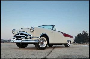 1954 Packard Caribbean Convertible (Lot S63) with less than 69,000 actual miles will be sold Saturday at 12:30 p.m.