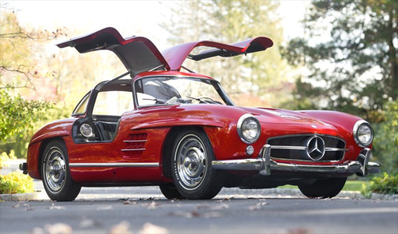 1955 mercedes benz 300 sl gullwing red sports car digest for Mercedes benz gullwing 1955
