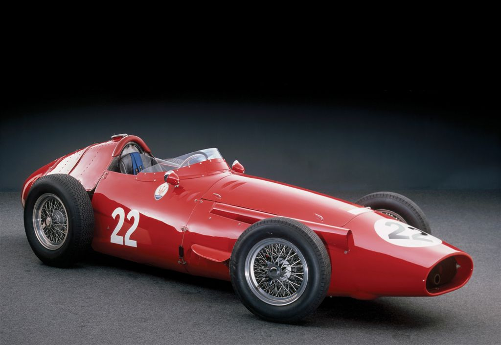 Main picture of the 1956 Maserati 250F that won the 1956 Monaco Grand Prix driven by Stirling Moss