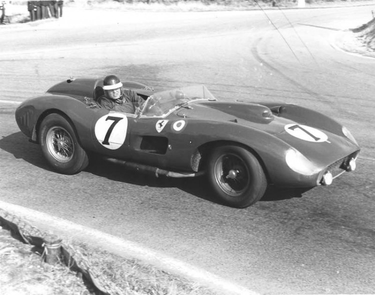 Mike Hawthorn and Luigi Musso raced the Ferrari 335 S Spider (chassis 0674) at Le Mans in 1957
