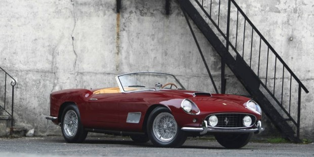 <strong>1958 Ferrari 250 GT LWB California Spider – Estimate $2,700,000 - $3,600,000.</strong> Ferrari Classiche Certified; 2008 Palm Beach Cavallino Classic Platinum and Judges Cup Award Winner; 2007 Pebble Beach Concours Award Winner; original covered headlight with factory hardtop.
