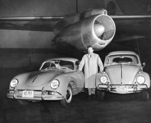 1958: Ferry Porsche with the Porsche construction Type 356 and Type 60 (Volkswagen)