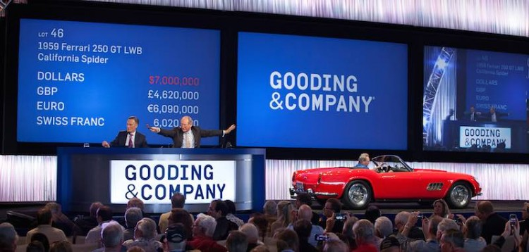 1959 Ferrari 250 GT LWB California Spider sold for $7,700,000