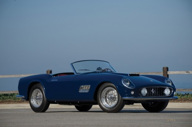 <strong>1959 Ferrari 250 GT LWB California Spyder – Estimate €2,000,000 – €2,500,000. </strong>Chassis # 1487 GT, an original covered-headlight example, enjoyed an active racing career, driven by Pierre Mion at Cumberland, Bridgehampton, Lime Rock and finishing 2nd overall at the 1960 six-hour race at Marlboro. The car was subsequently sold by Luigi Chinetti to the Rodriguez family in Mexico; Pedro drove 1487 GT to a class victory at the 1961 Gran Premio Indipendenza in Mexico.