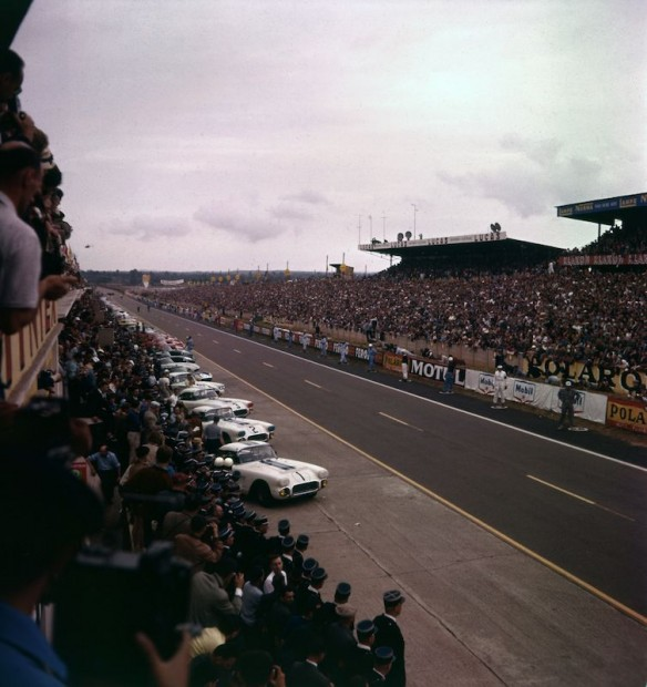 Before the start of the 1960 Le Mans 24 Hours race