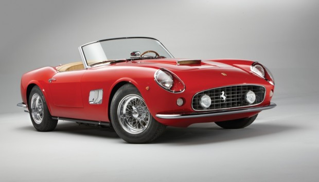 <strong>1962 Ferrari 250 GT SWB California Spyder – Estimate €4,300,000 – €5,500,000.</strong> One of 37 SWB covered headlight California Spyders.