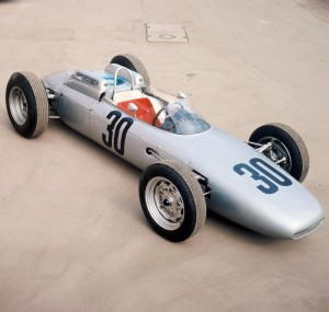 The 1962 Porsche Type 804 Formula 1 car driven by Dan Gurney to the French Grand Prix victory
