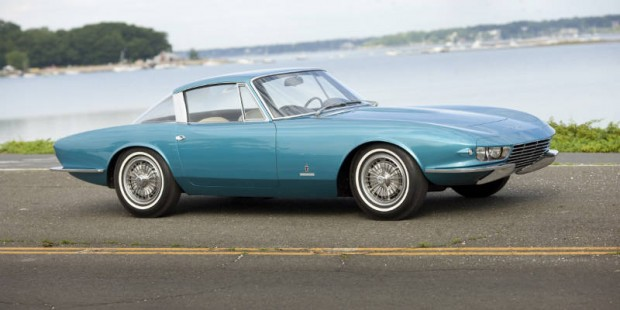 <strong>1963 Chevrolet Corvette 'Rondine' – Estimate Unavailable.</strong> Unique Pininfarina design was held in the PininFarina museum for 45 years; only 3,670 miles from new. Last sold at Barrett-Jackson Scottsdale in 2008 for $1,760,000; from Michael Schudroff Collection.
