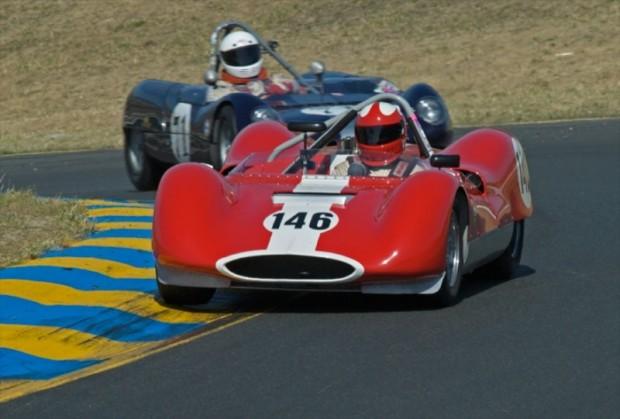 1963 Huffaker Genie Mk 8 John Harden and 1964 Lotus 23B Don Stark
