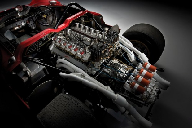 1967 Ferrari 330 P4 Chassis 0858 Engine Picture