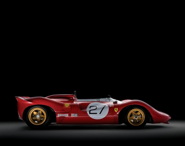 Side view of 1967 Ferrari 330 P4 Chassis 0858