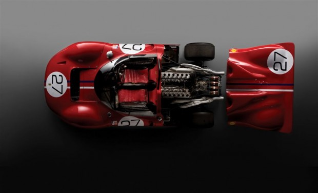 Picture from above the 1967 Ferrari 330 P4 Chassis 0858