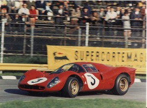 Ferrari 330 P4 Chassis 0858 at the 1000 kilometres of Monza where it was victorious with Chris Amon and Lorenzo Bandini at the wheel