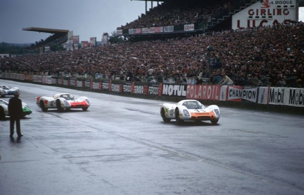 1968 24 Hours of Le Mans - #33 Porsche 908 LH Coupe of Rolf Stommelen and Jochen Neerpasch (3rd overall) and #32 Porsche 908 LH Coupe of Gerhard Mitter and Vic Elford (DNF)