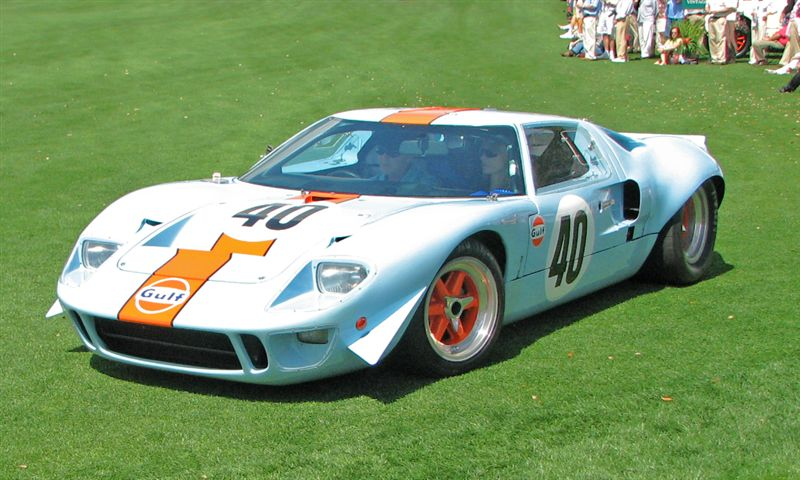 1968 Ford GT40 Mk II won Cars of David Hobbs Class