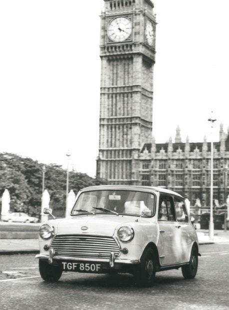 Mini Cooper S Mk II in London, 1968