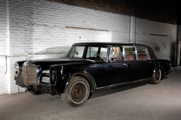 <strong>Lot 205 - 1969 Mercedes-Benz 600 Pullman Landaulet - Sold for $491,535 versus pre-sale estimate of $65,000 - $95,000.</strong> One of 59 built and in unrestored original condition; Once-in-a-lifetime sales require once-in-a-lifetime bids and this was one of those opportunities. Several bidders were involved for quite some time, although it came down to two deep pockets desperately wanting the same thing. Don't be surprised to see this on the 18th fairway at Pebble Beach in a few years.