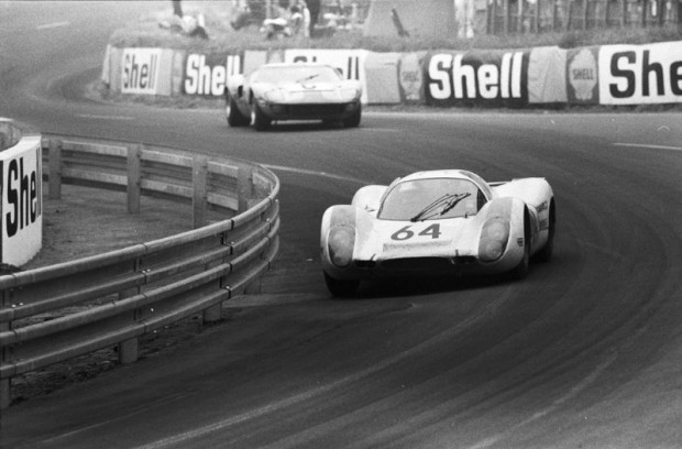 Number 64 Porsche 908 LH Coupe of Hans Herrmann and Gerard Larrousse finished 2nd overall